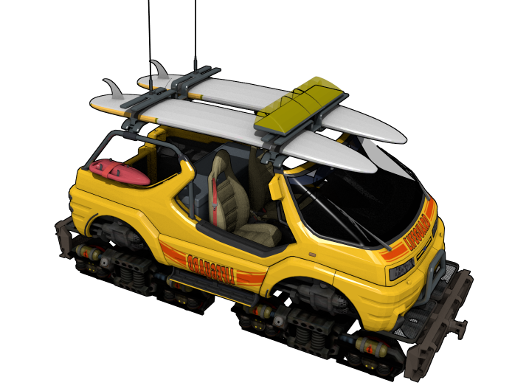 Lifeguard rail-vehicle fusion concept