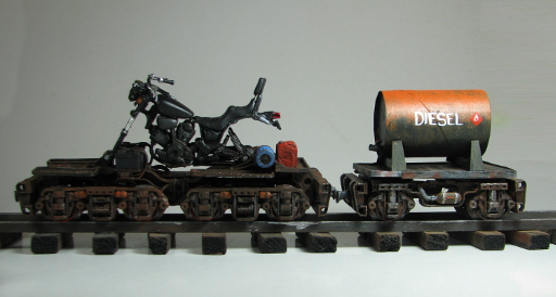 Railbike and truck