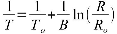 Temperature Expression as a function of B and Resistance