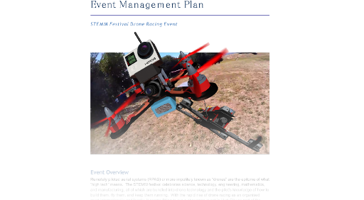 Drone Race Event Management Plan Thumbnail