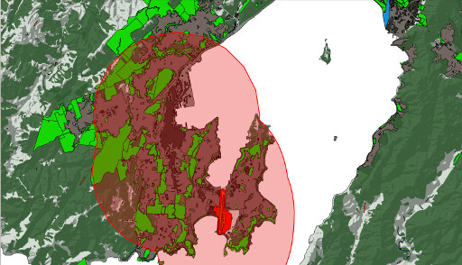 The Wellington Region Parks and Reserves and 4km Airspace Layers