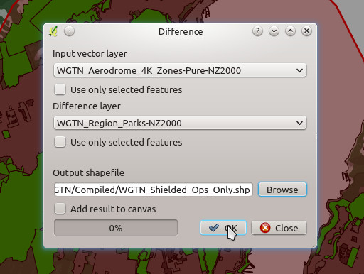 Vector Difference Dialogue Box