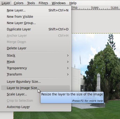Layer to Image Size Tool