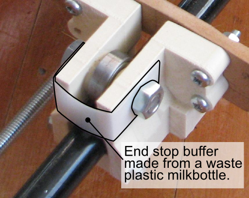 Detail of the waste plastic buffer