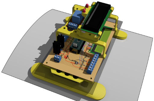 Cadre de support imprimé en 3D