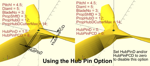 Pinned Hub Option Parameters